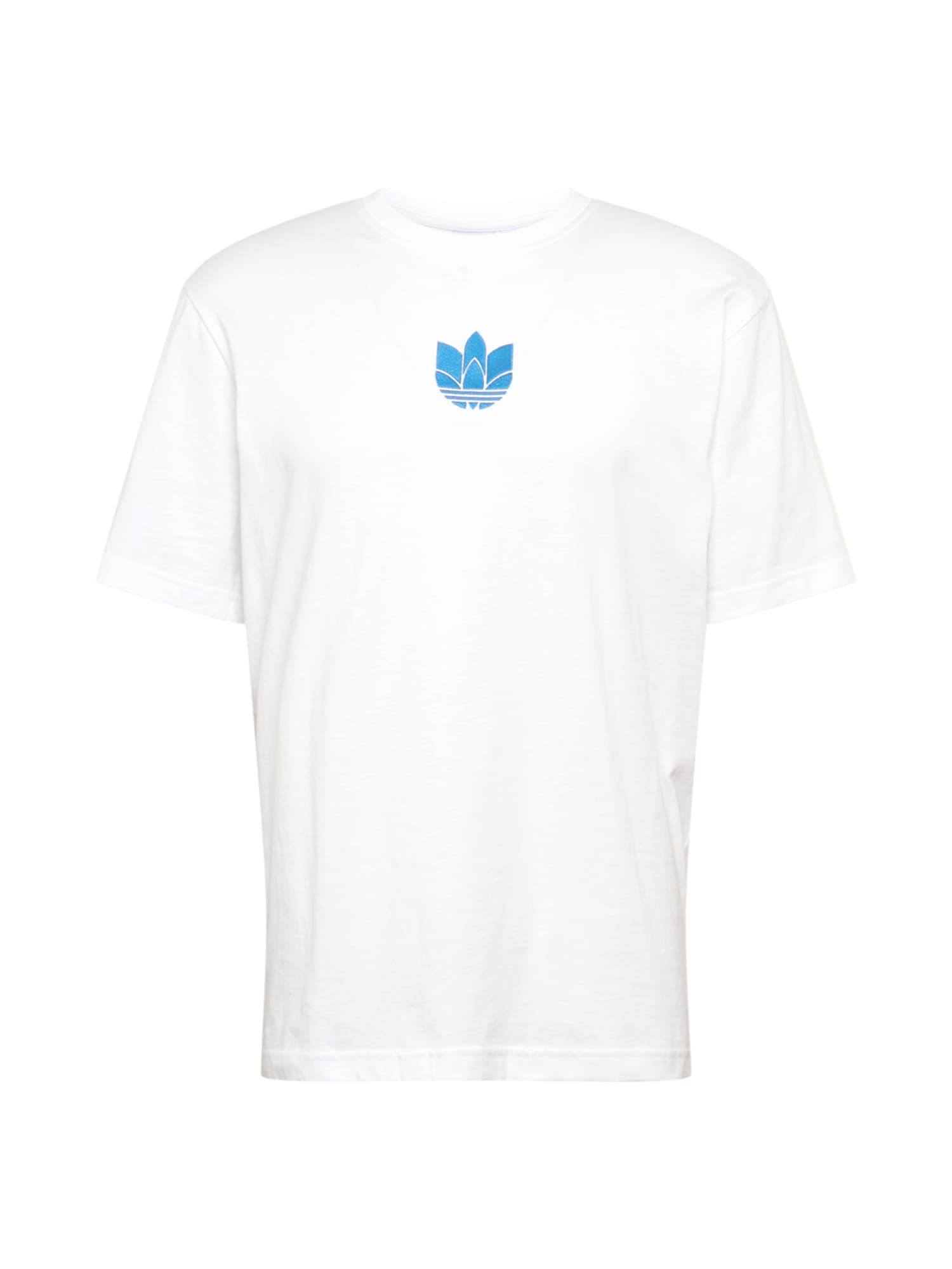 ADIDAS ORIGINALS Marškinėliai mėlyna / balta