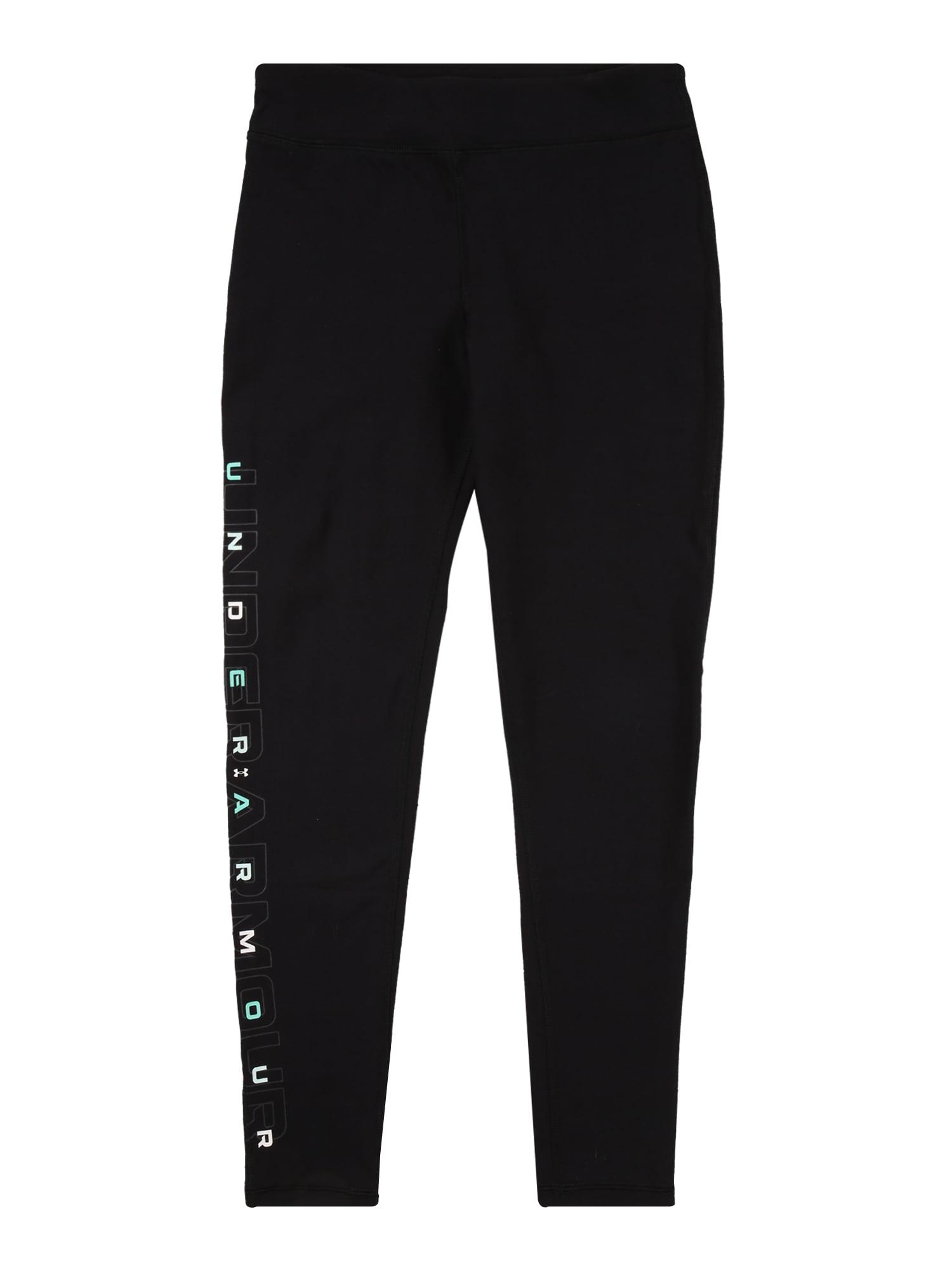 UNDER ARMOUR Sportinės kelnės juoda / balta / šviesiai mėlyna