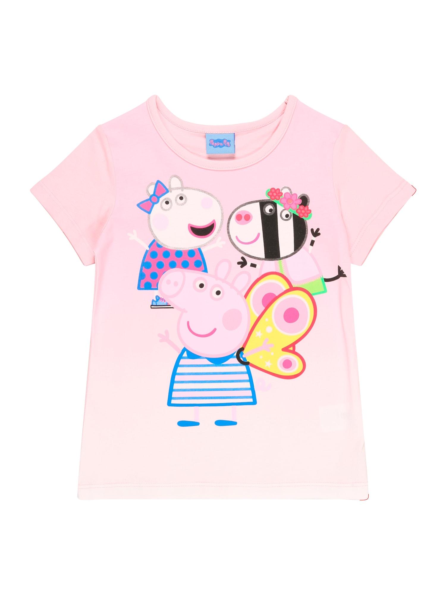 """Peppa Pig Marškinėliai rožių spalva / sodri mėlyna (""""karališka"""") / geltona / juoda"""