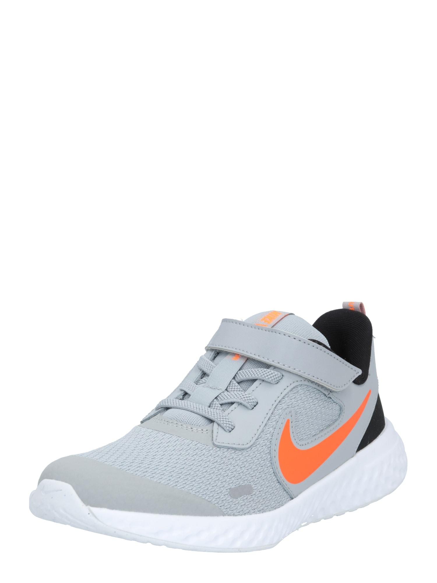 NIKE Sportovní boty 'Revolution 5'  oranžová / šedá