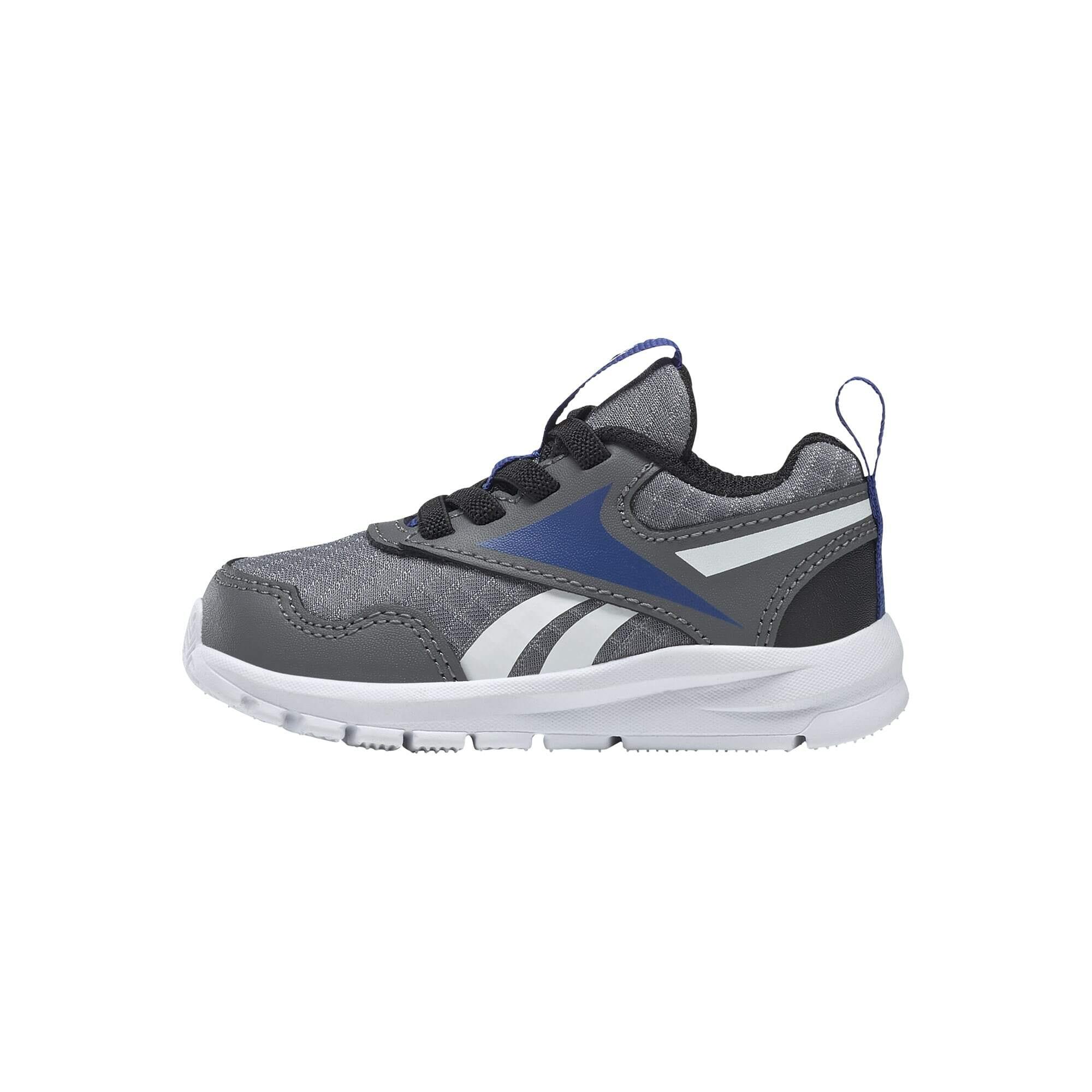 REEBOK Sportiniai batai 'Sprinter' akmens / balta / juoda / mėlyna