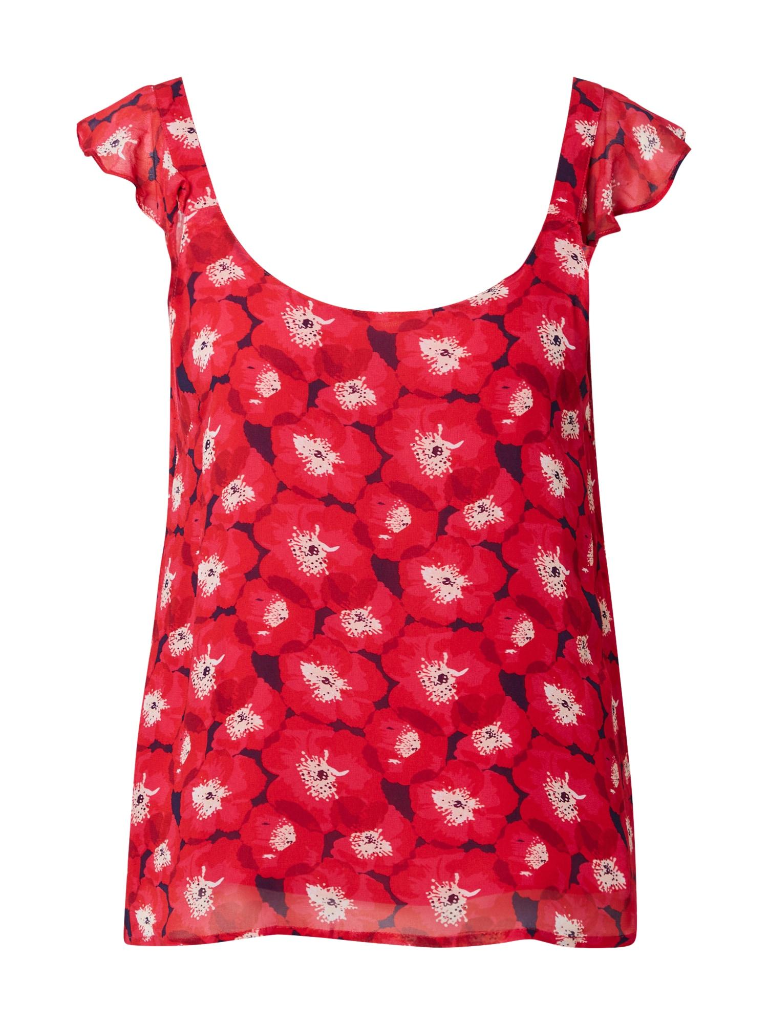 La petite étoile Palaidinė be rankovių raudona / tamsiai raudona / balta / rožių spalva / vyšninė spalva