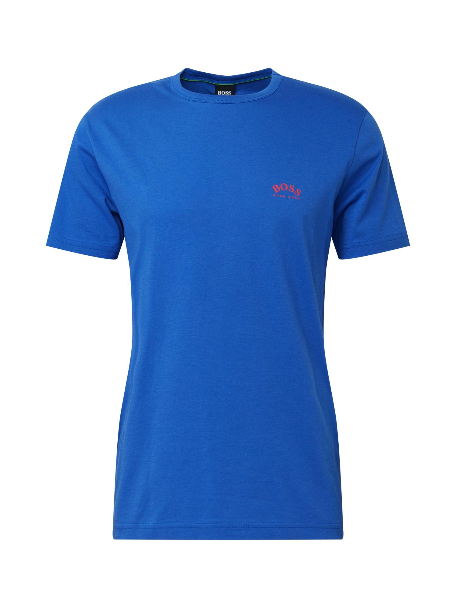 BOSS ATHLEISURE Marškinėliai 'Togn' mėlyna / raudona