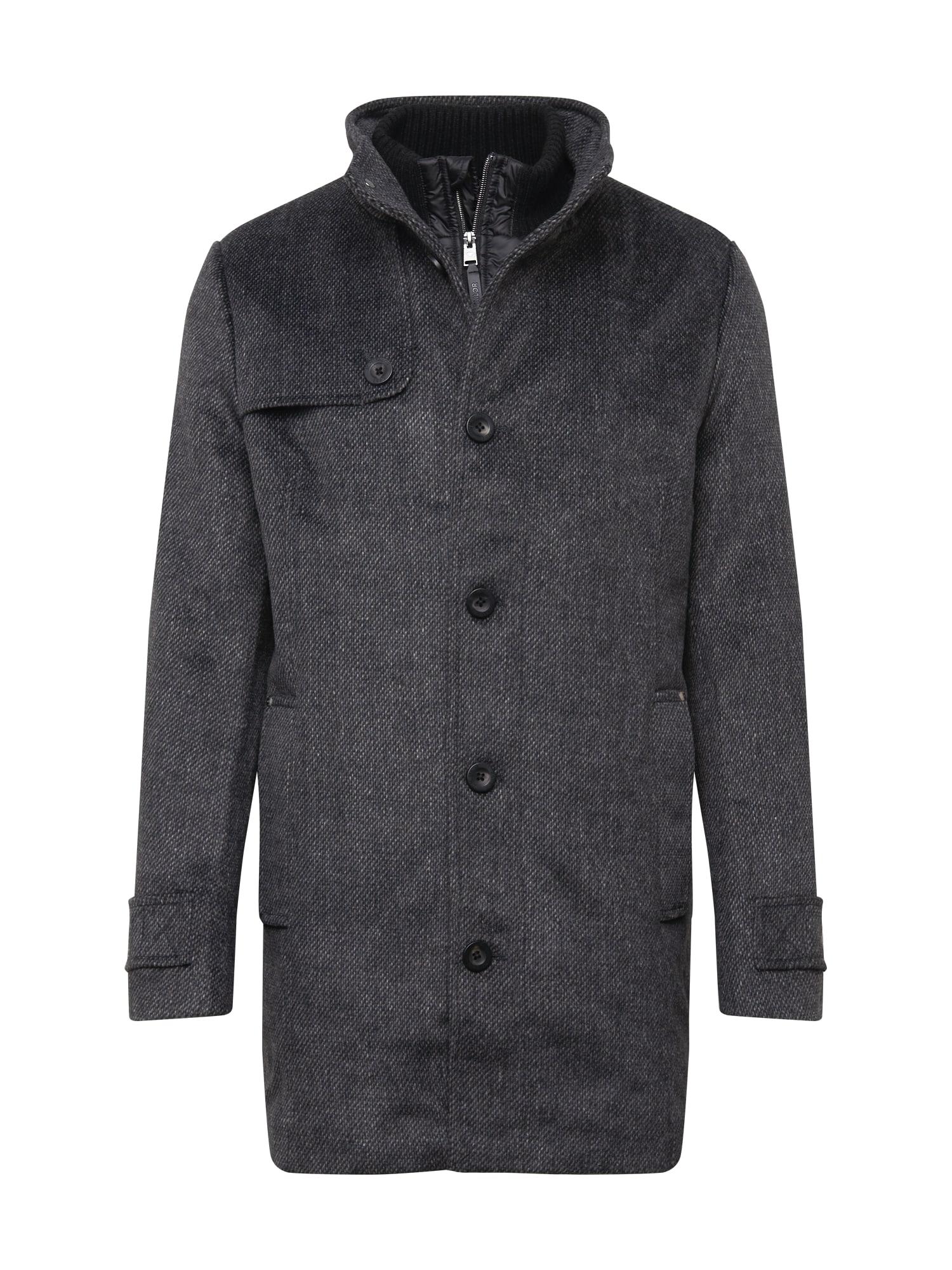 TOM TAILOR Přechodný kabát  tmavě šedá