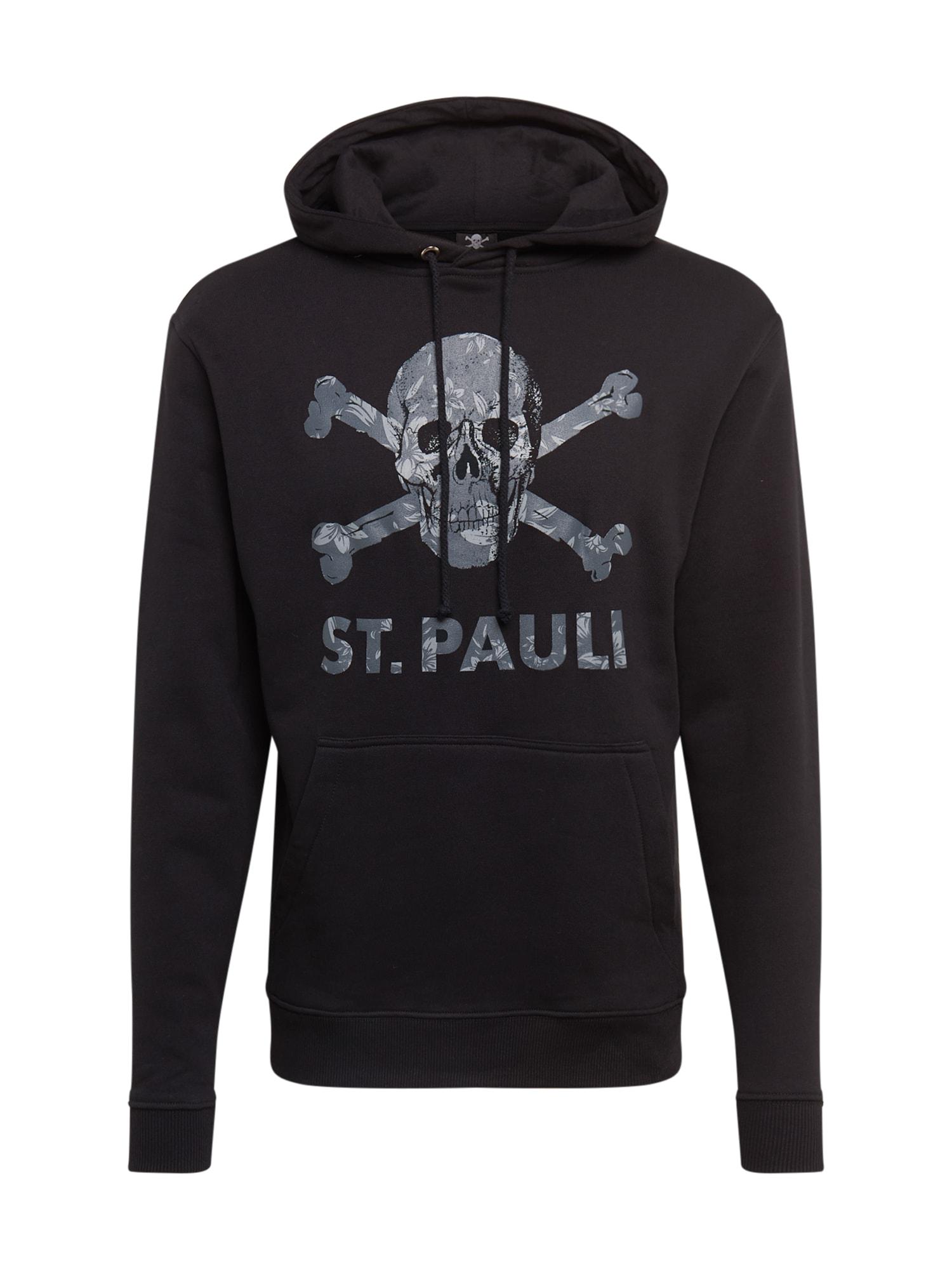 FC St. Pauli Sportinio tipo megztinis juoda / akmens / šviesiai pilka