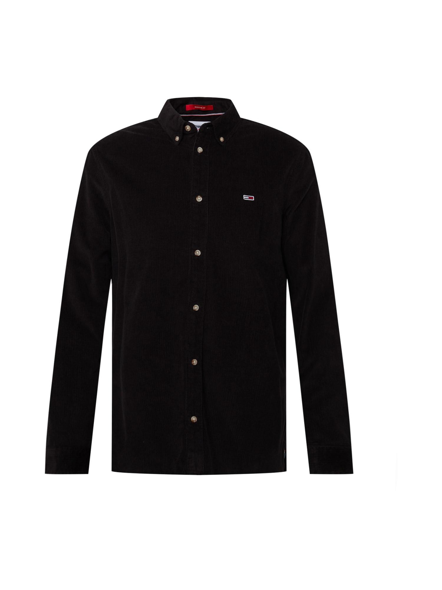 Tommy Jeans Košile  černá / marine modrá / červená / bílá