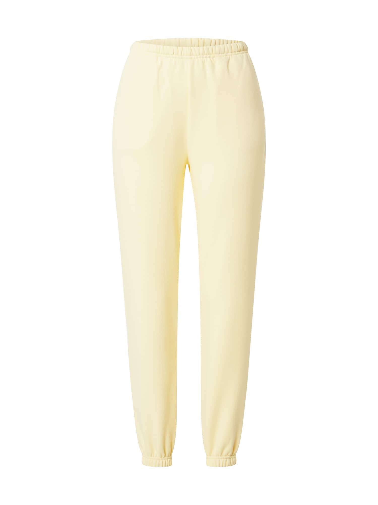 Gina Tricot Kelnės šviesiai geltona