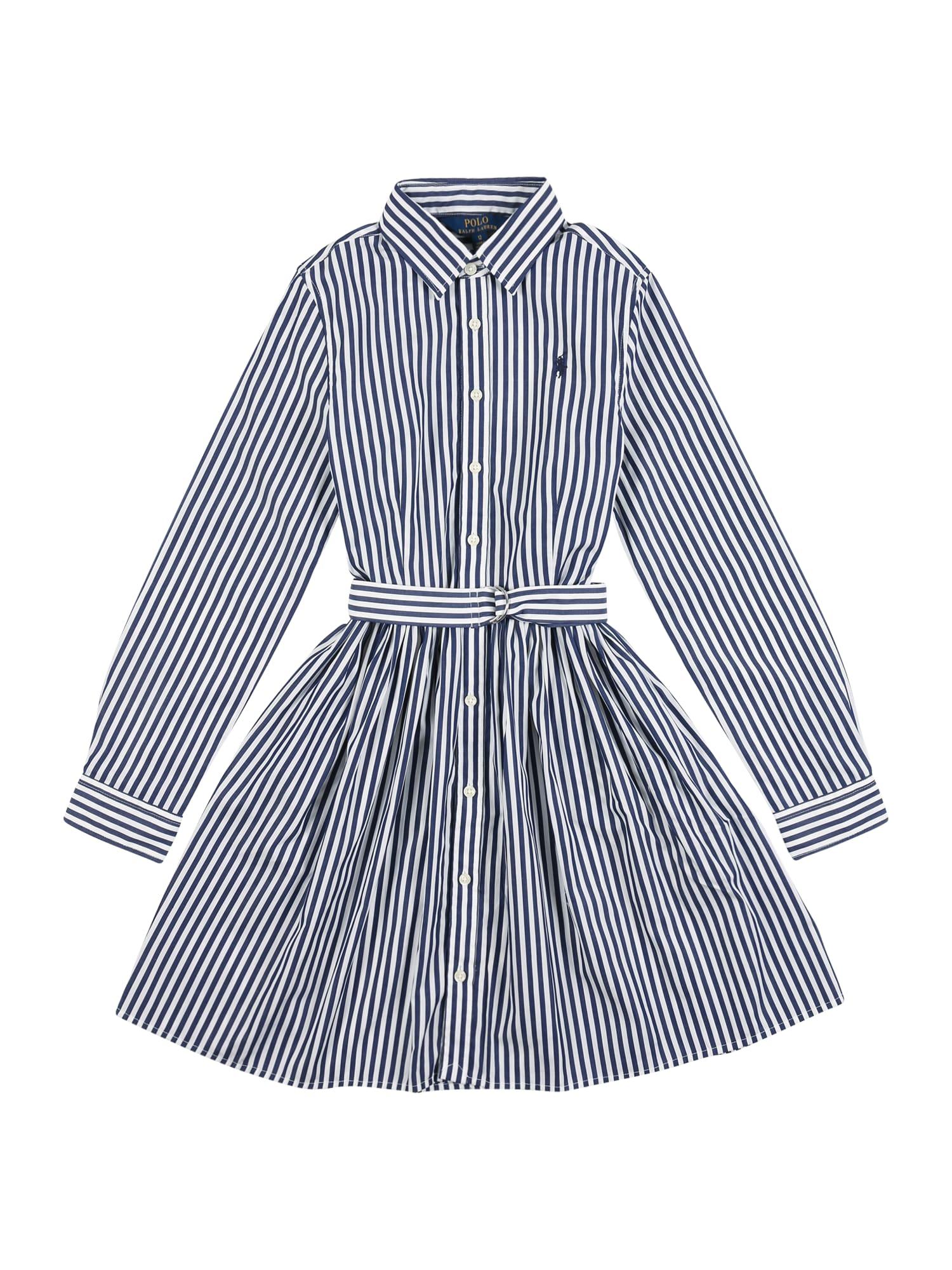 POLO RALPH LAUREN Šaty 'Bengal'  námornícka modrá / biela
