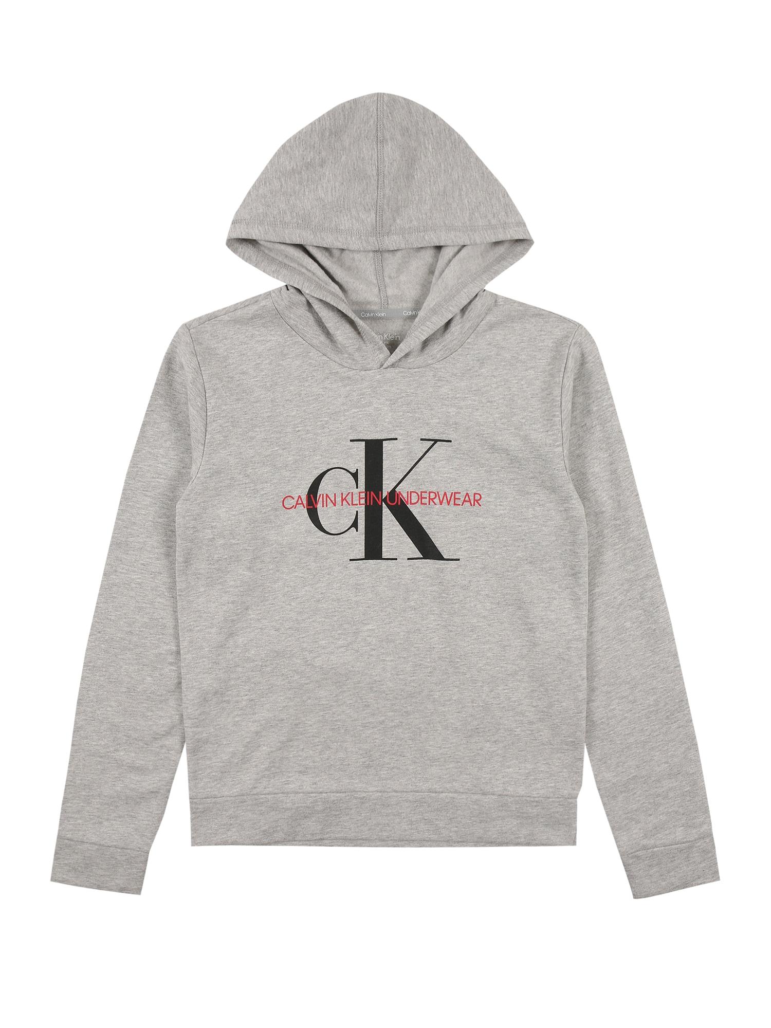 Calvin Klein Underwear Megztinis be užsegimo margai pilka / juoda / raudona