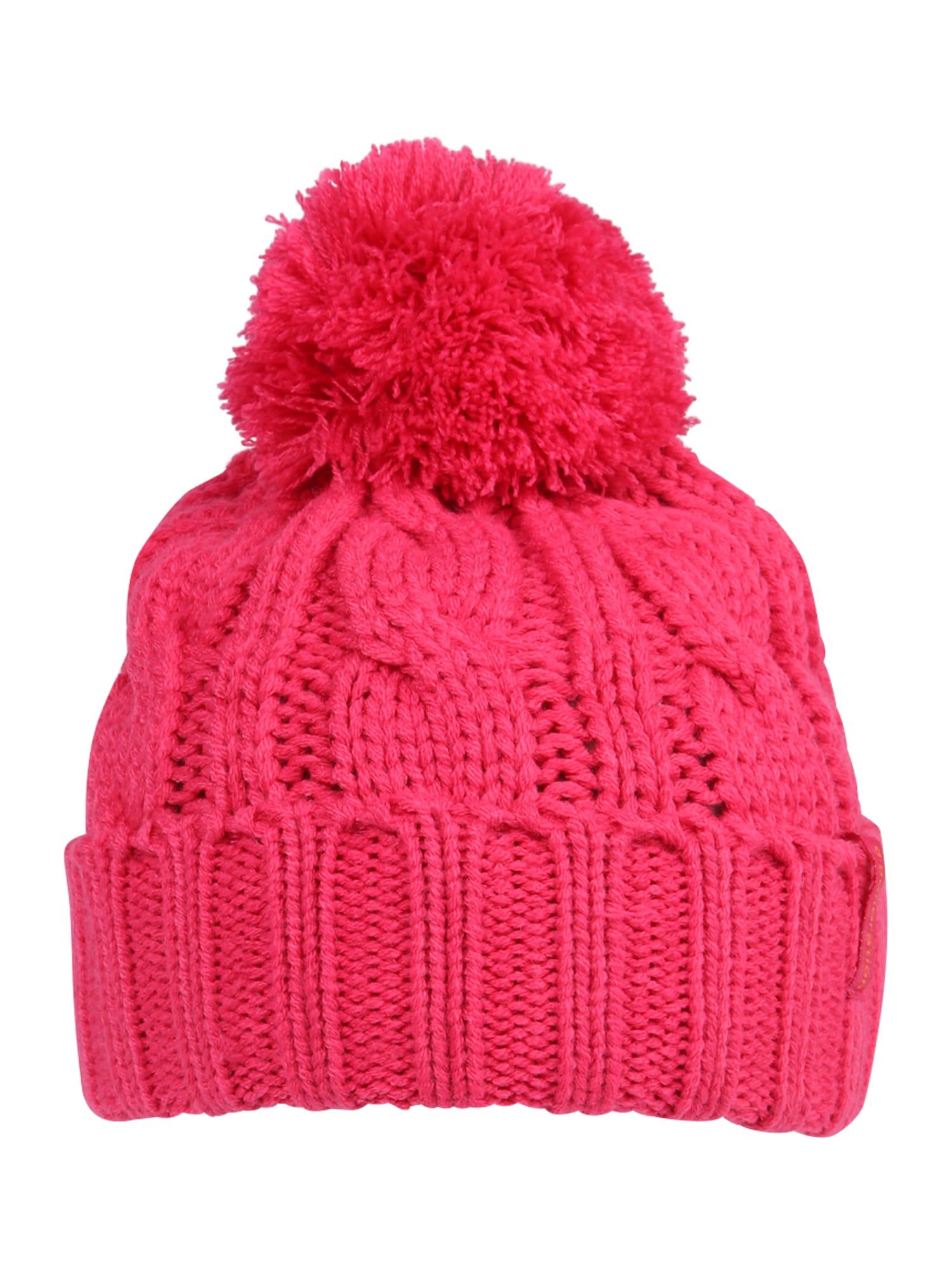 DÖLL Megzta kepurė tamsiai rožinė