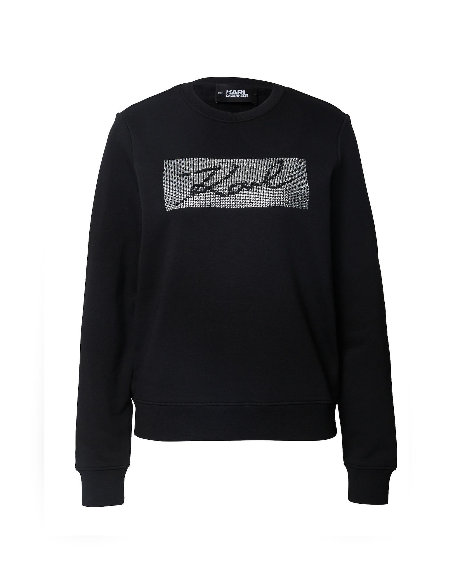 Karl Lagerfeld Mikina 'Rhinestone'  černá