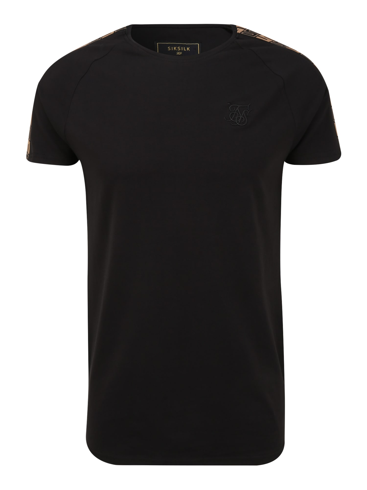 SikSilk Marškinėliai juoda / smėlio / balta / raudona