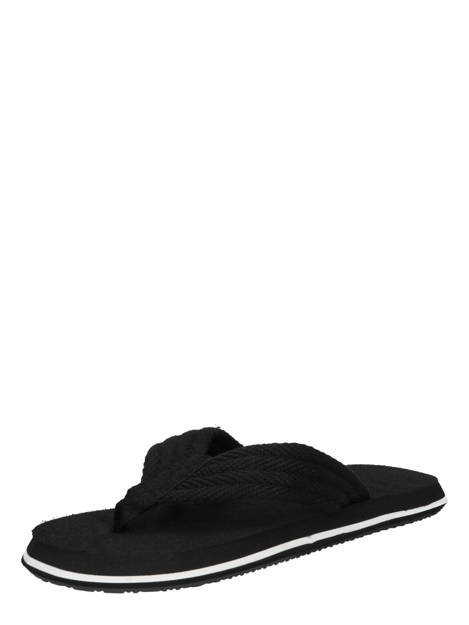 BECK Atviri batai juoda / balta