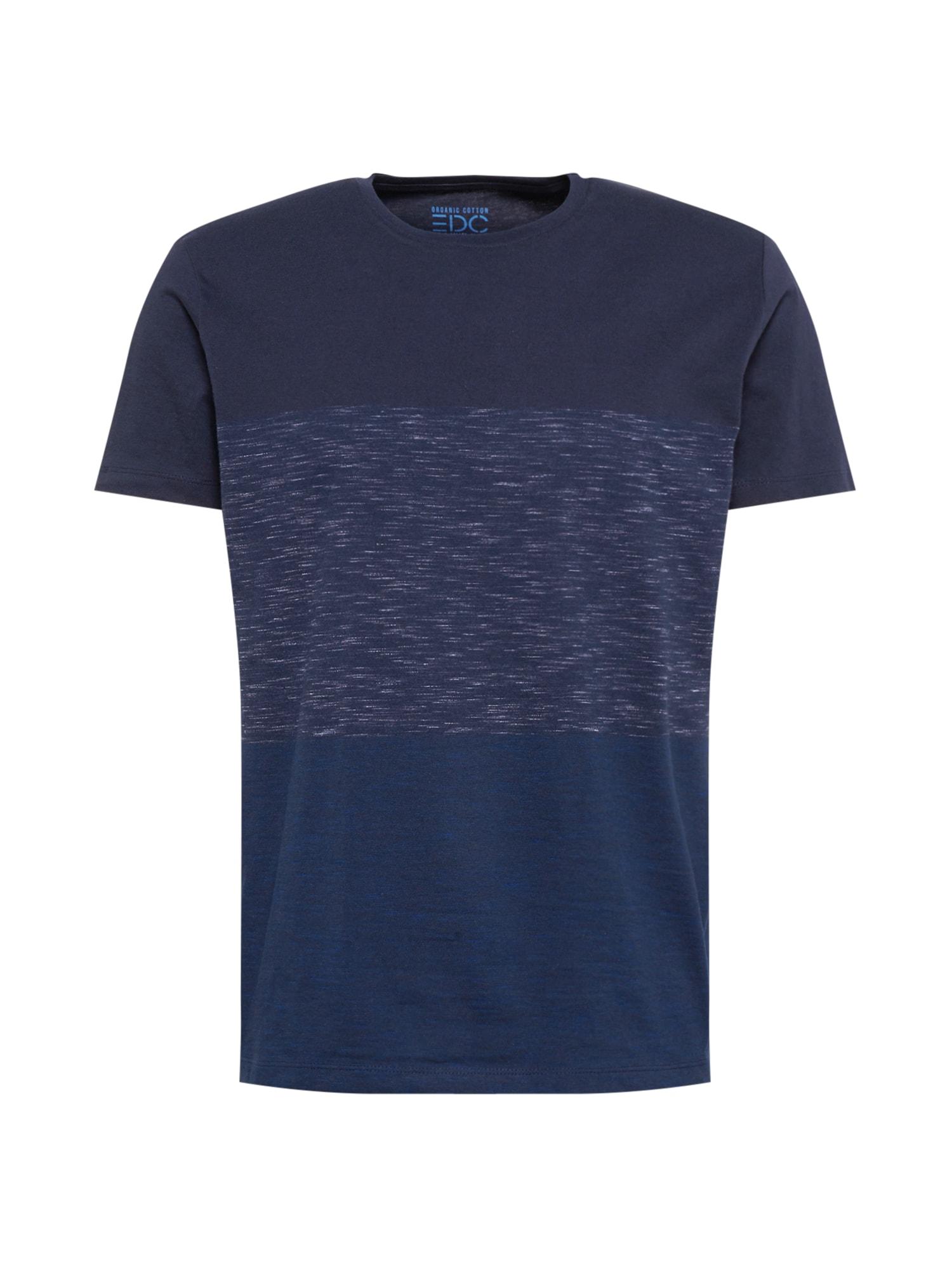 EDC BY ESPRIT Tričko  námořnická modř / kobaltová modř