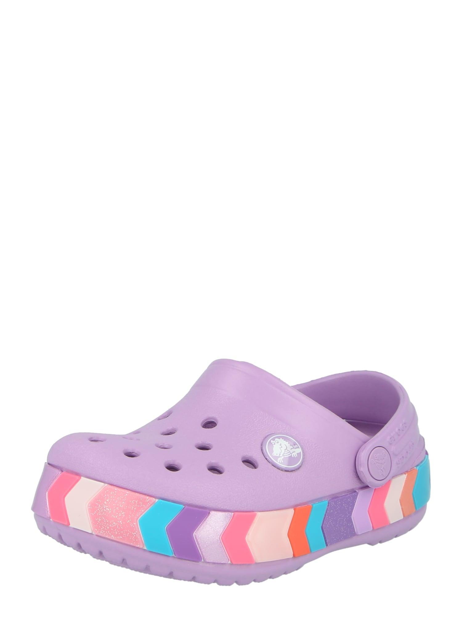 Crocs Atviri batai šviesiai violetinė / mišrios spalvos