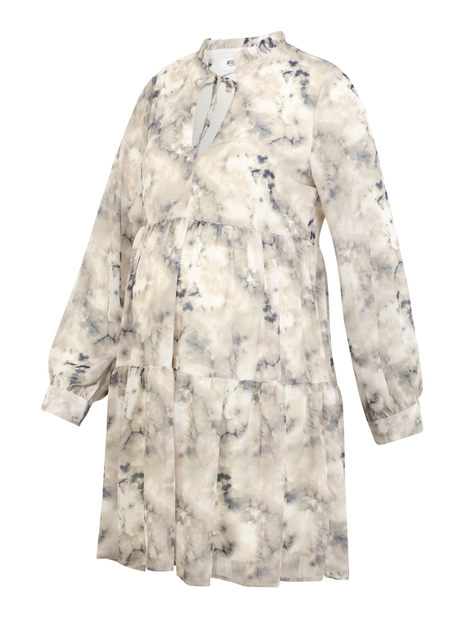 Missguided Maternity Suknelė balta / smėlio spalva / mėlyna