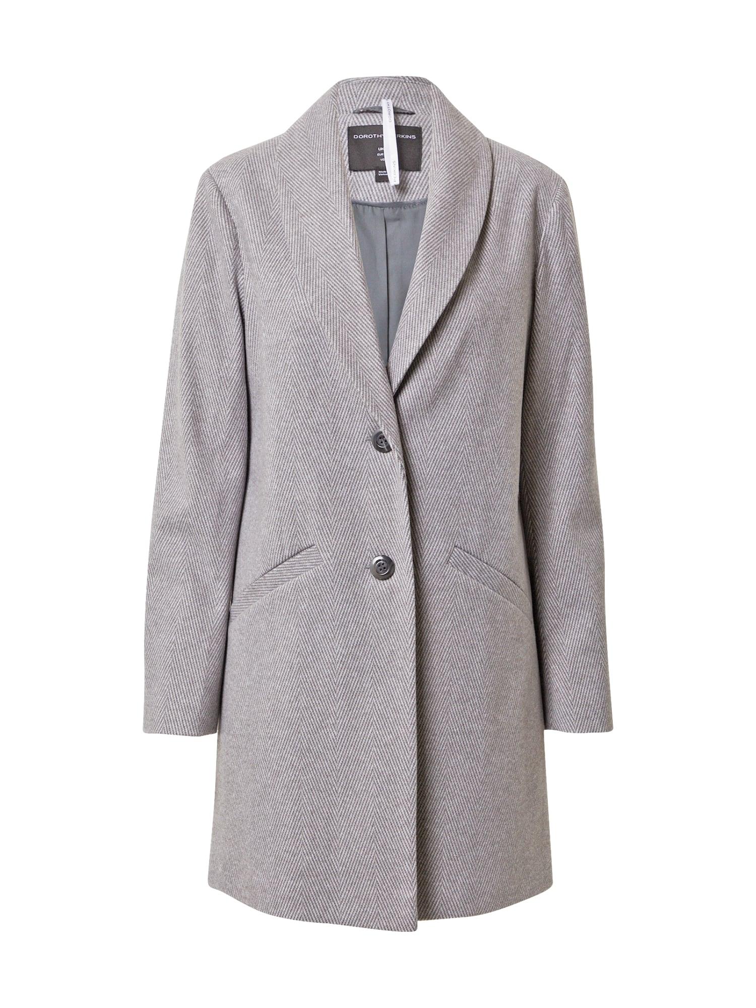 Dorothy Perkins Demisezoninis paltas šviesiai pilka / balta