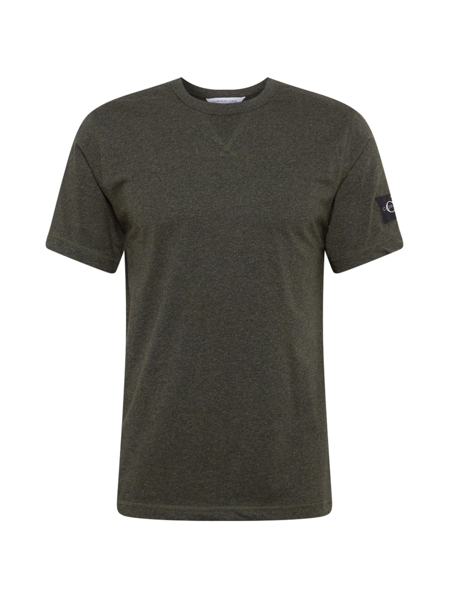 Calvin Klein Jeans Marškinėliai tamsiai žalia