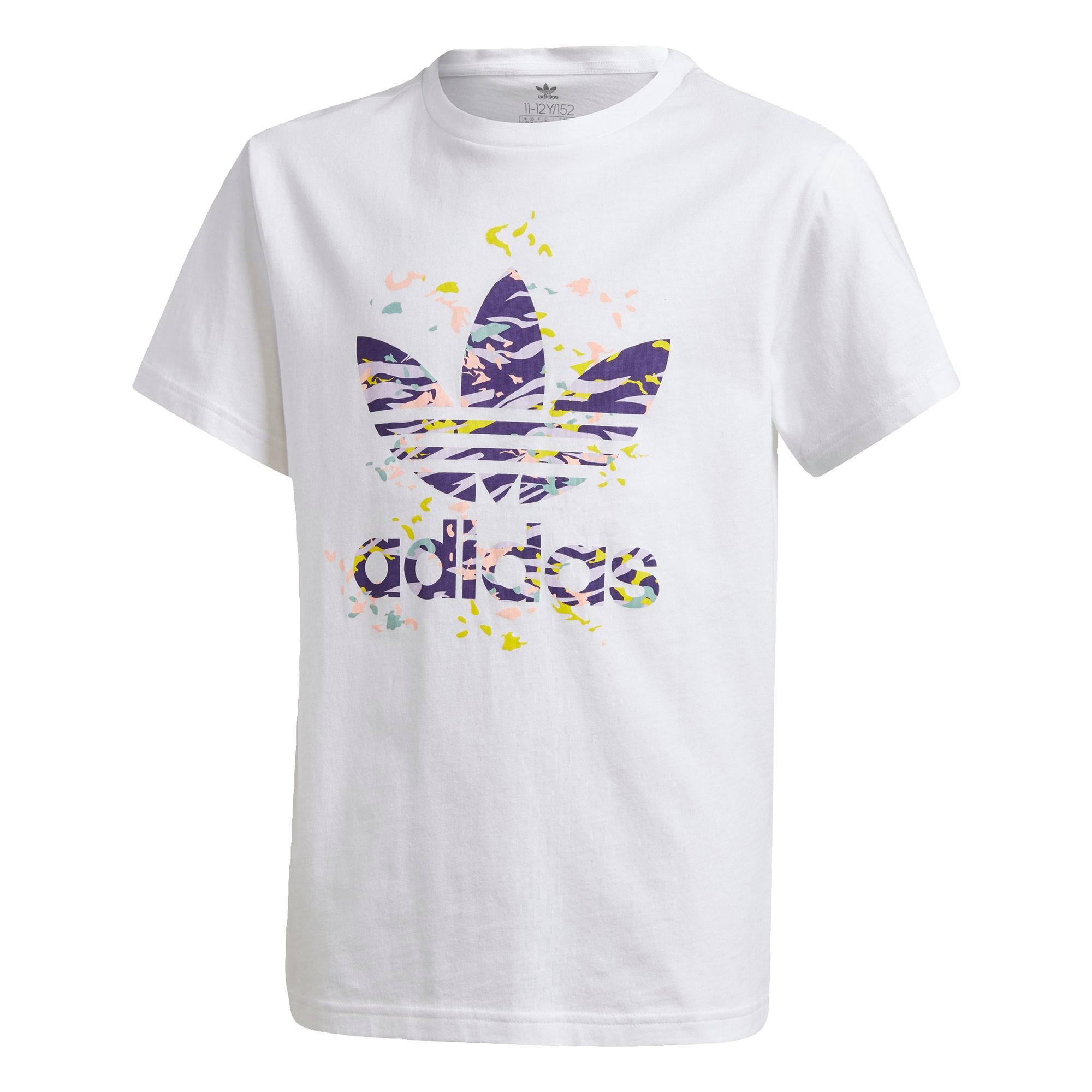 ADIDAS ORIGINALS Marškinėliai šviesiai rožinė / balta / tamsiai violetinė / opalo / geltona
