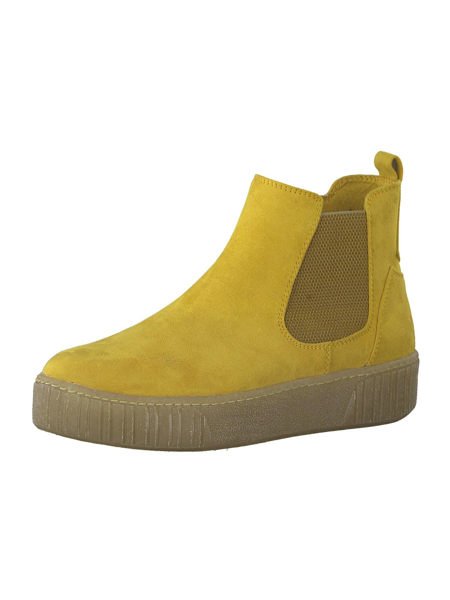 MARCO TOZZI Kulkšnis dengiantys batai garstyčių spalva