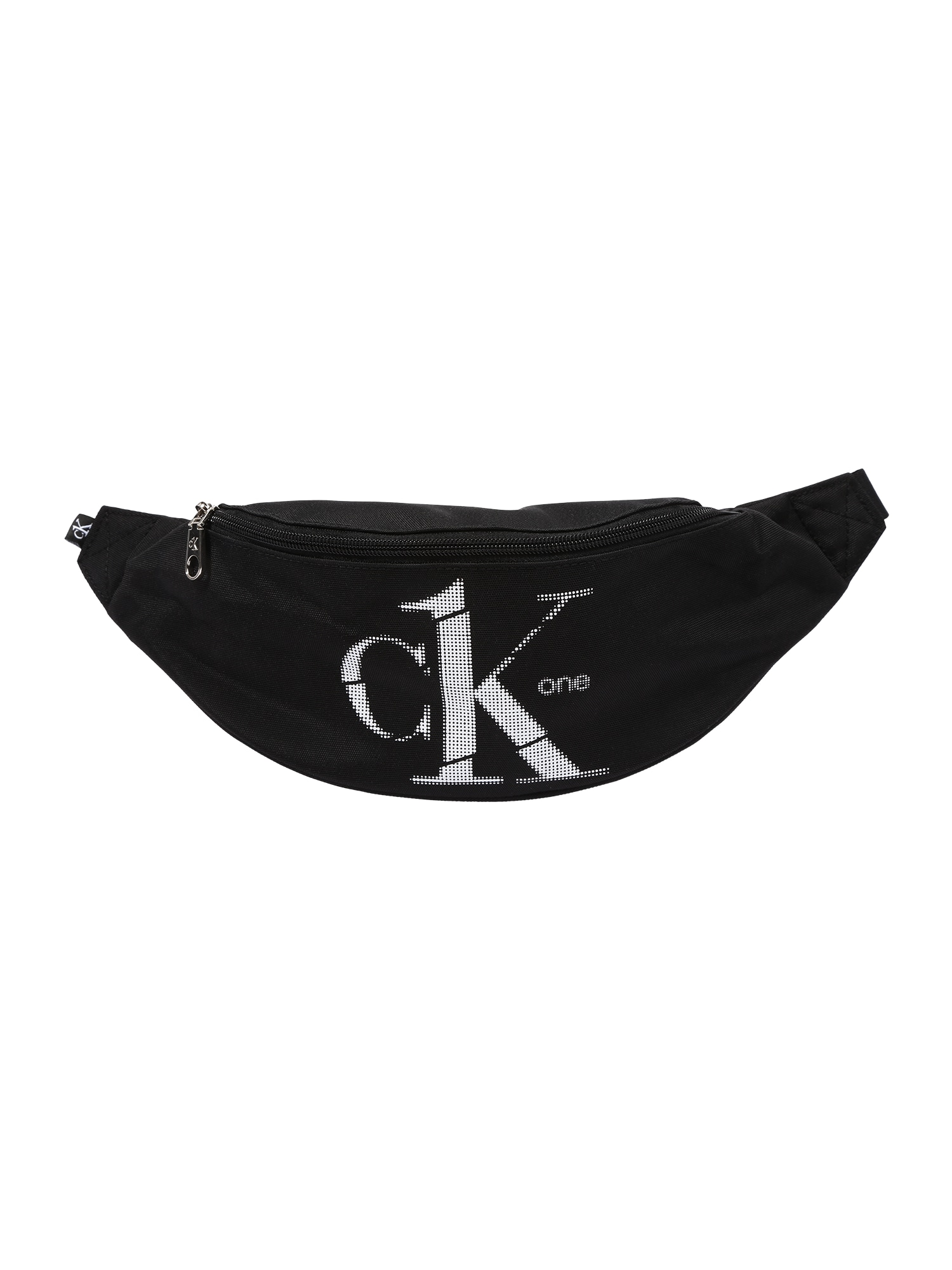 Calvin Klein Rankinė ant juosmens juoda / balta