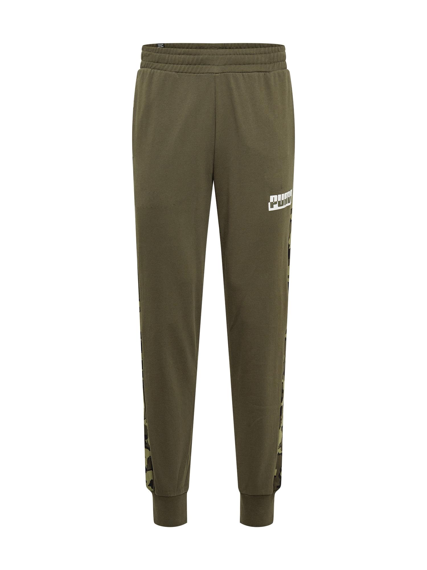 PUMA Sportinės kelnės tamsiai žalia / alyvuogių spalva