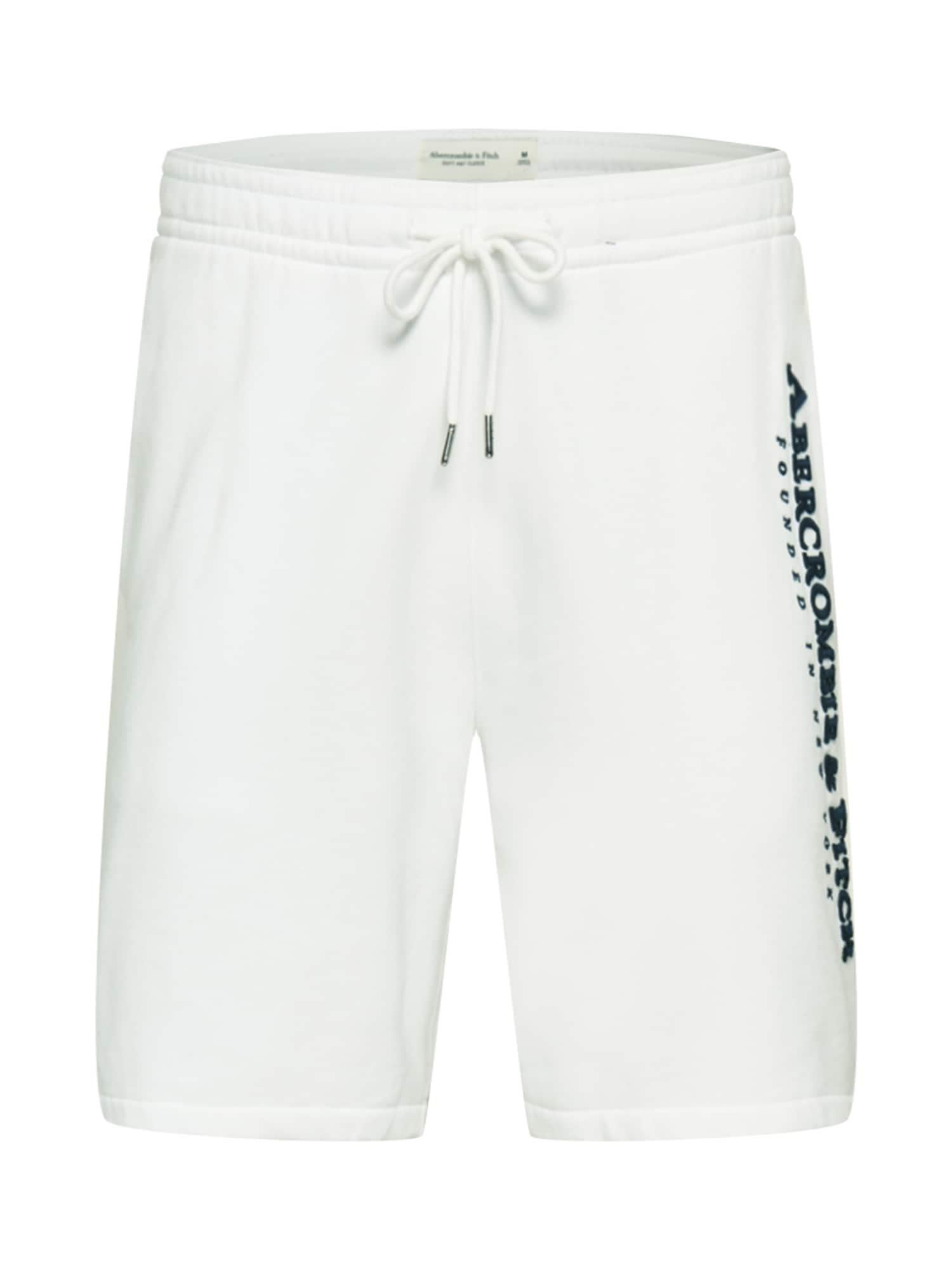 Abercrombie & Fitch Kelnės balta / juoda