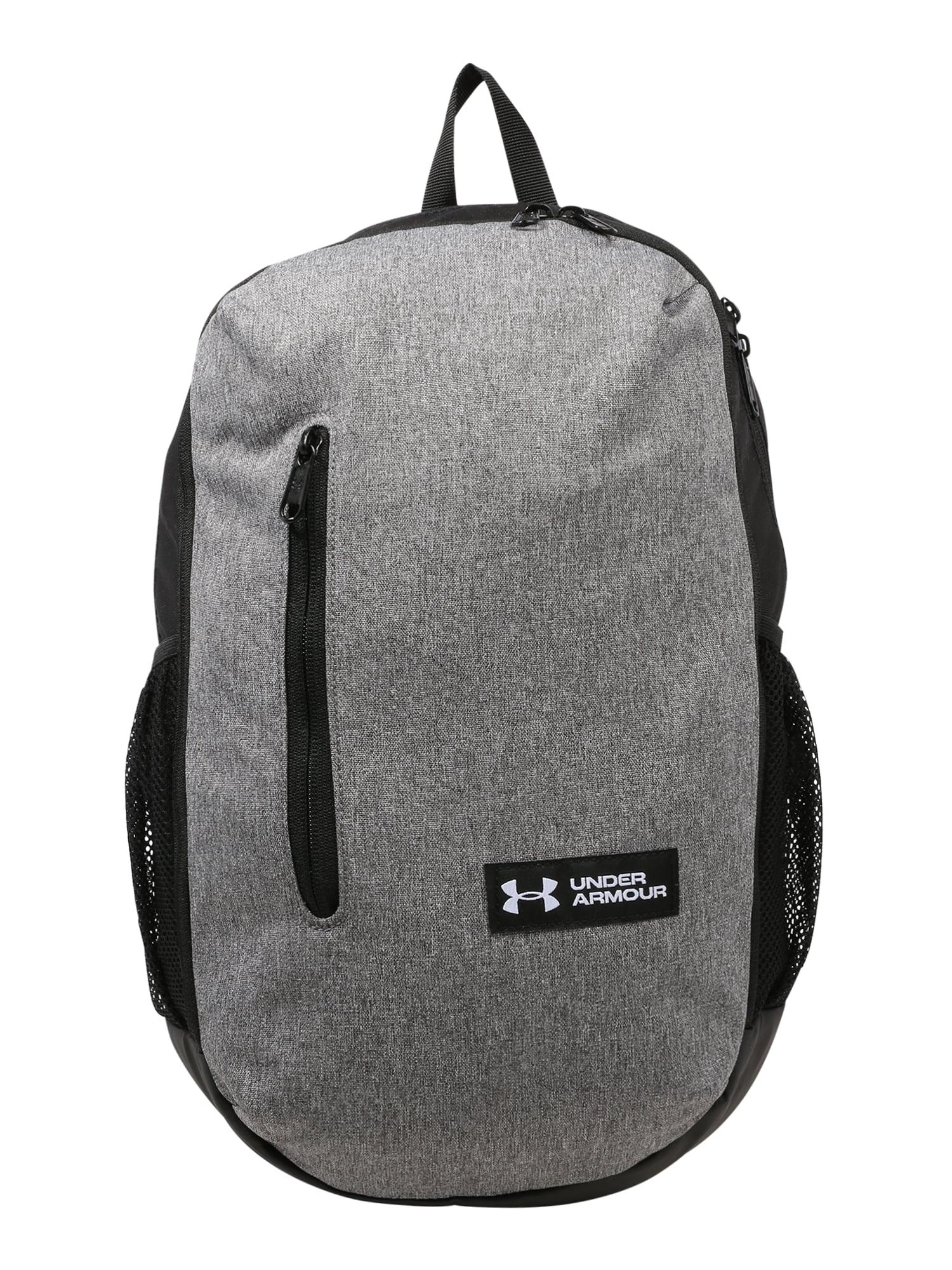 UNDER ARMOUR Sportovní batoh 'Roland'  černá / šedý melír
