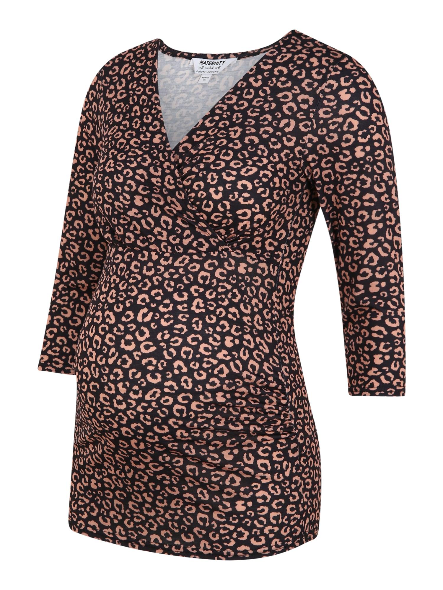 Dorothy Perkins Maternity Marškinėliai juoda / rožinė
