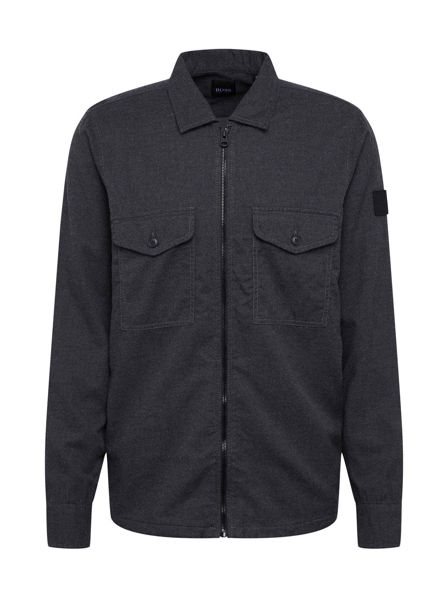 BOSS Marškiniai tamsiai pilka