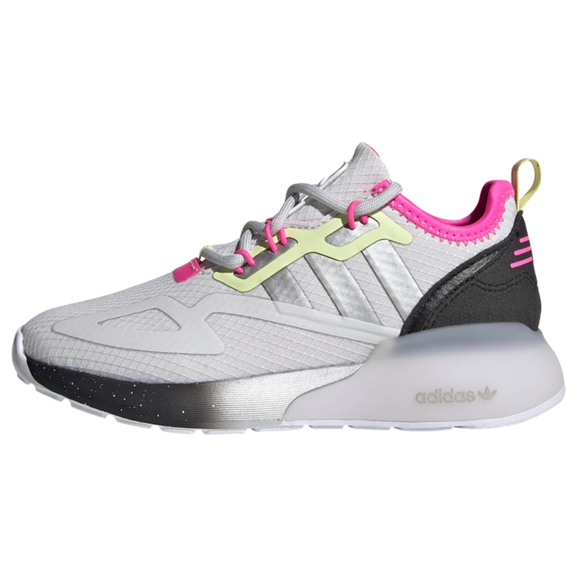 ADIDAS ORIGINALS Sportbačiai juoda / natūrali balta / rožinė / neoninė geltona
