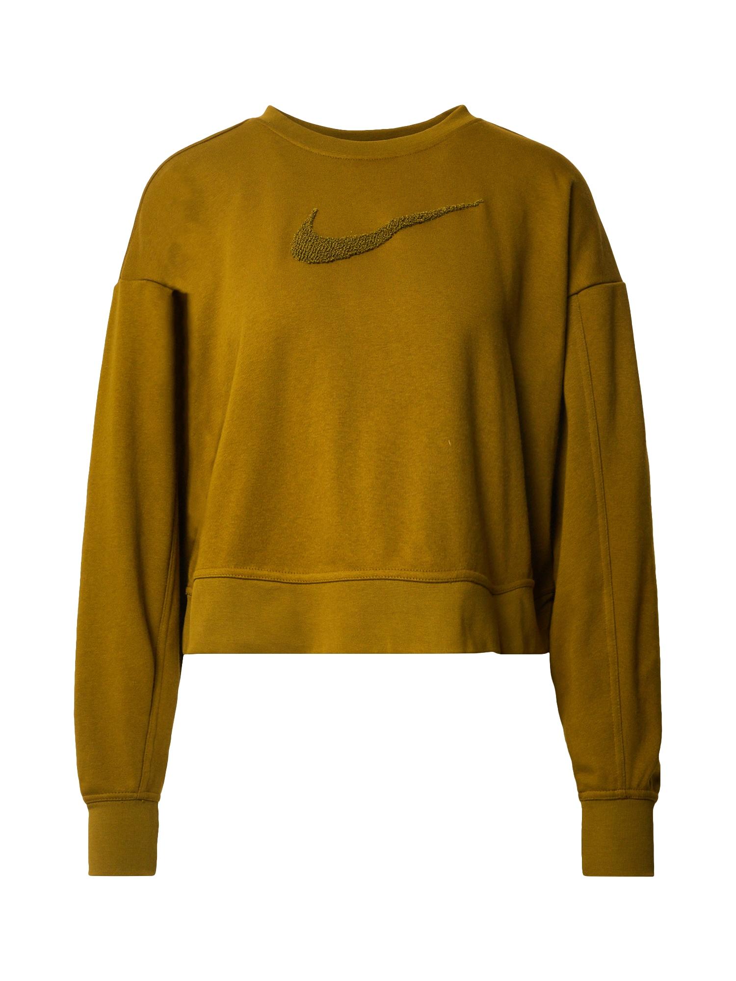 NIKE Sportinio tipo megztinis alyvuogių spalva