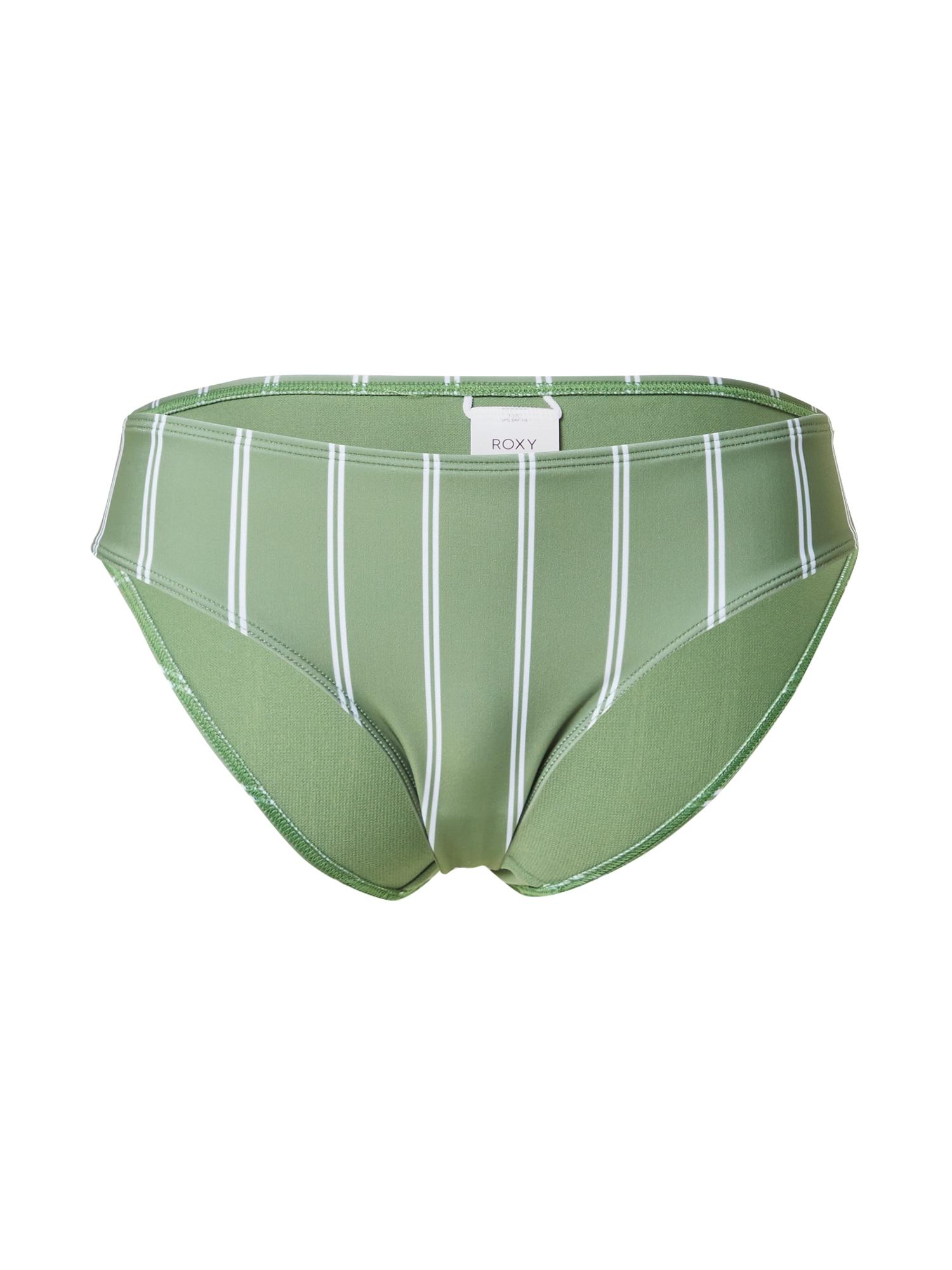 ROXY Bikinio kelnaitės žalia / balta