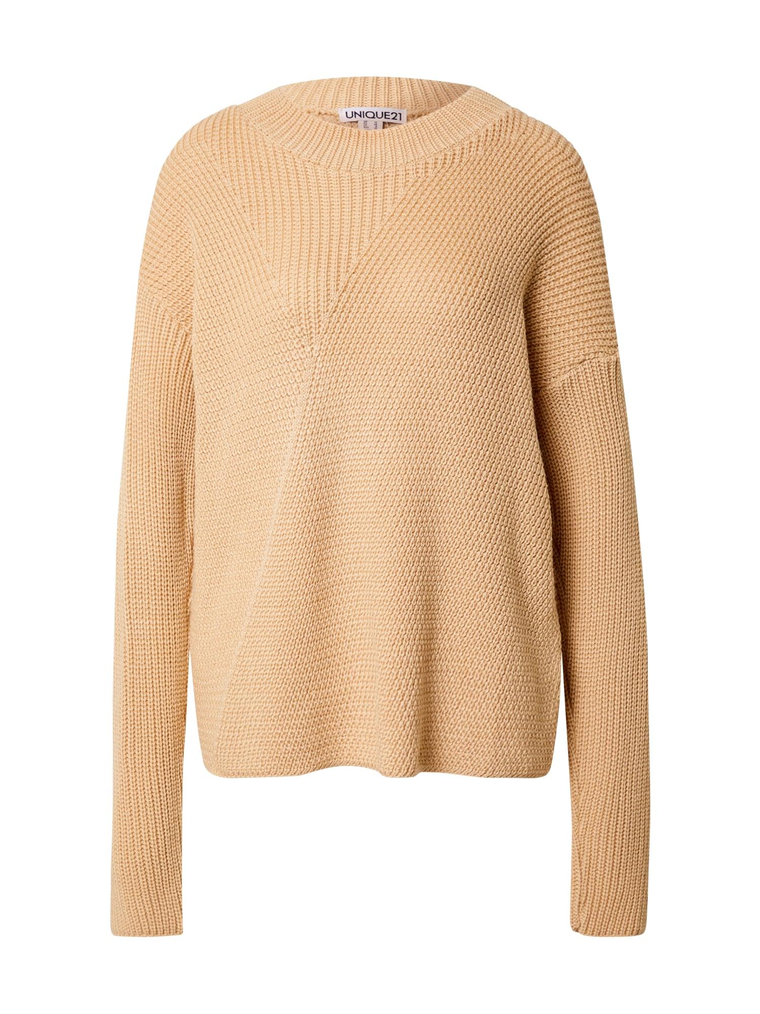 Unique21 Megztinis smėlio spalva
