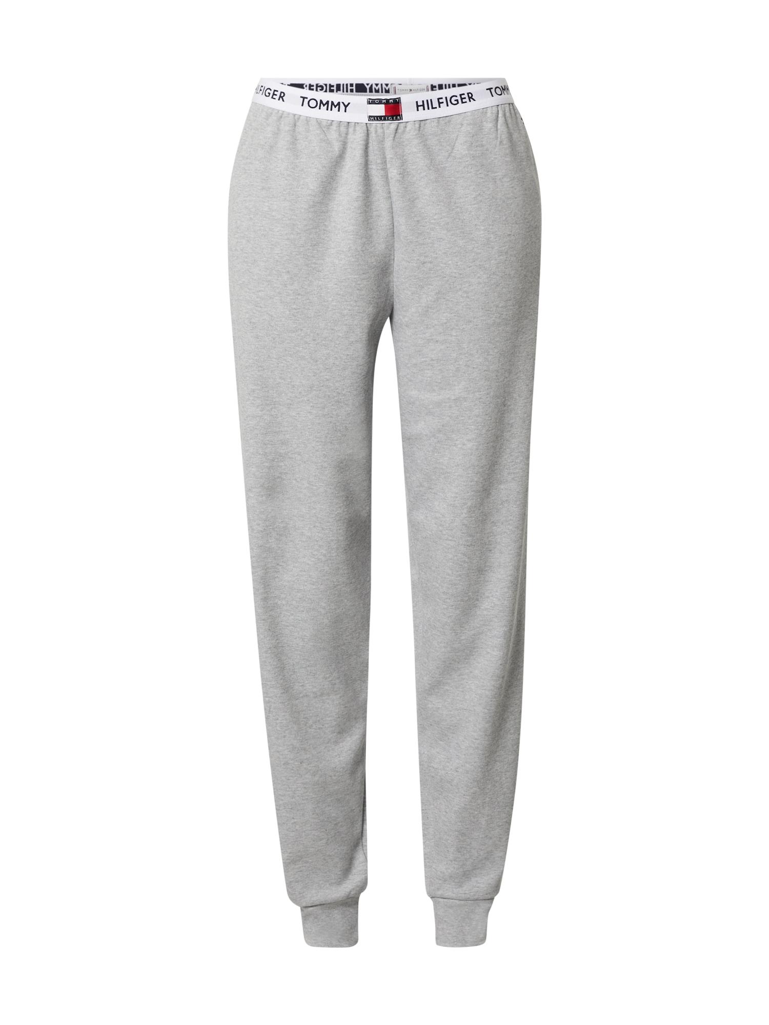 Tommy Hilfiger Underwear Pižaminės kelnės pilka / balta / tamsiai mėlyna / raudona