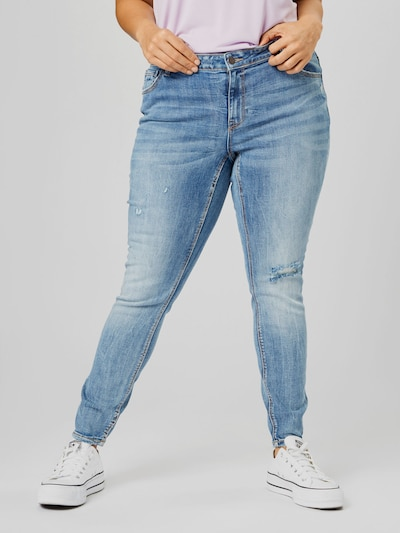 Vero Moda Curve Lydia Distressed Skinnyjeans mit niedriger Taille