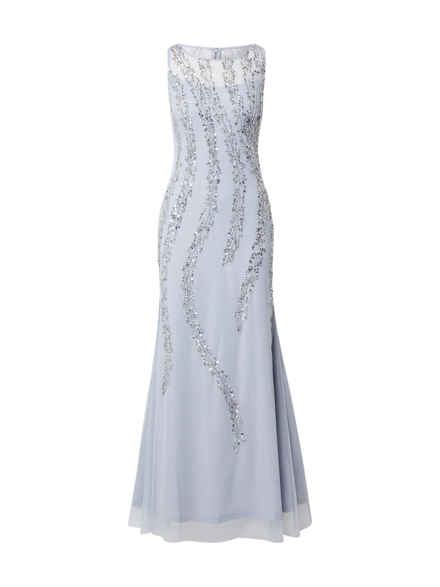 Hailey Logan Vakarinė suknelė šviesiai pilka / sidabro pilka