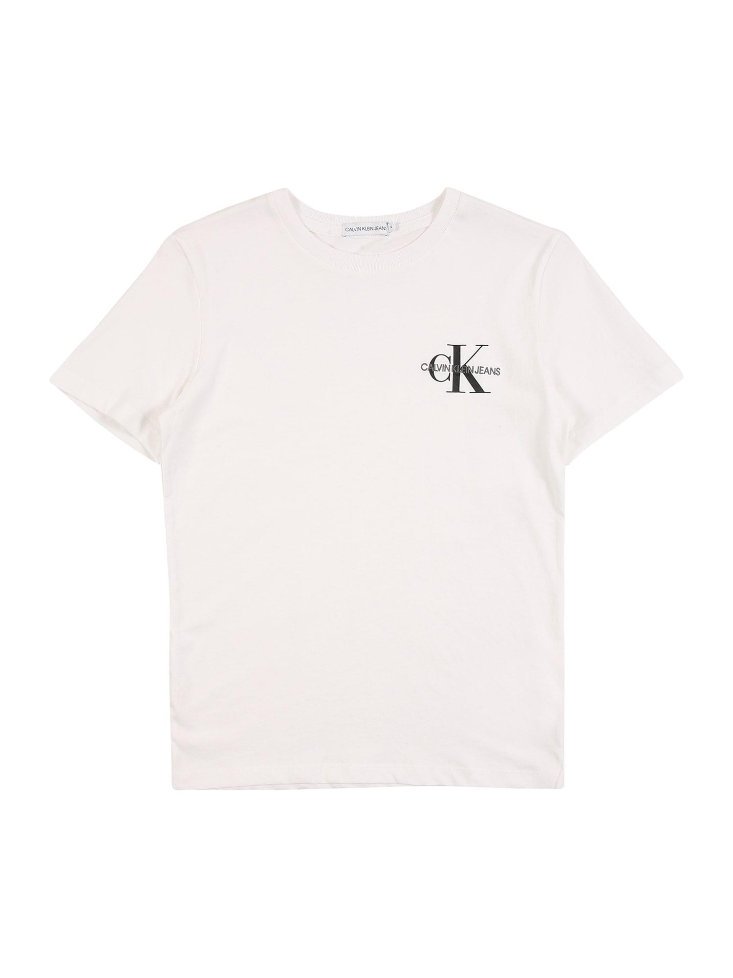Calvin Klein Jeans Tričko  bílá