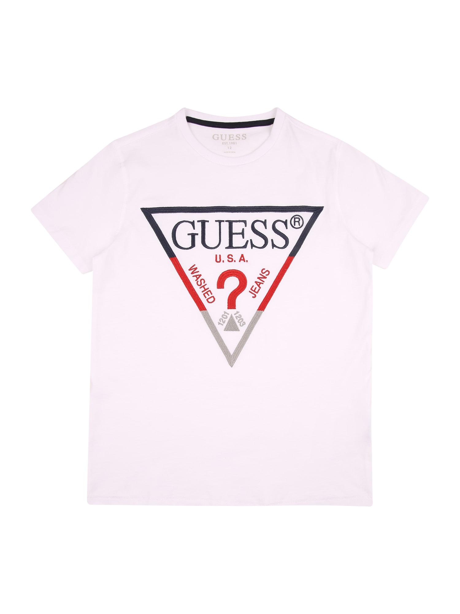 GUESS KIDS Marškinėliai balta / raudona / juoda / pilka