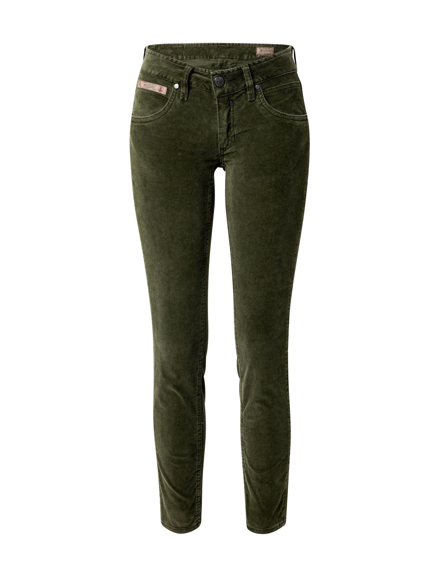 Herrlicher Kelnės tamsiai žalia