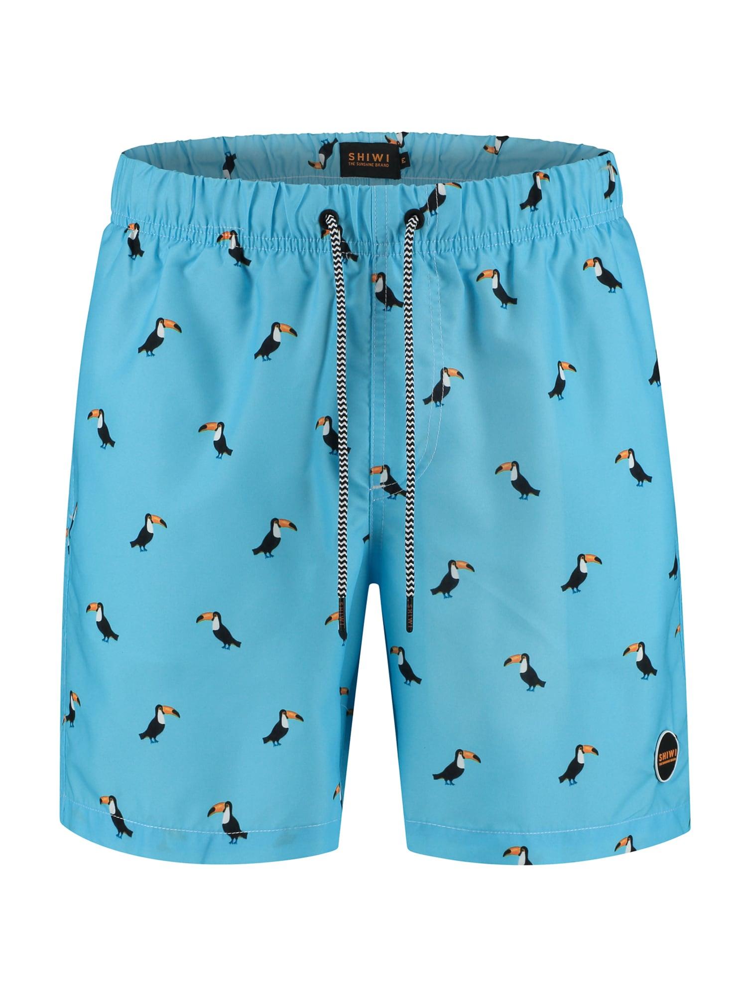 Shiwi Plavecké šortky  modrá / hořčicová / bílá / černá