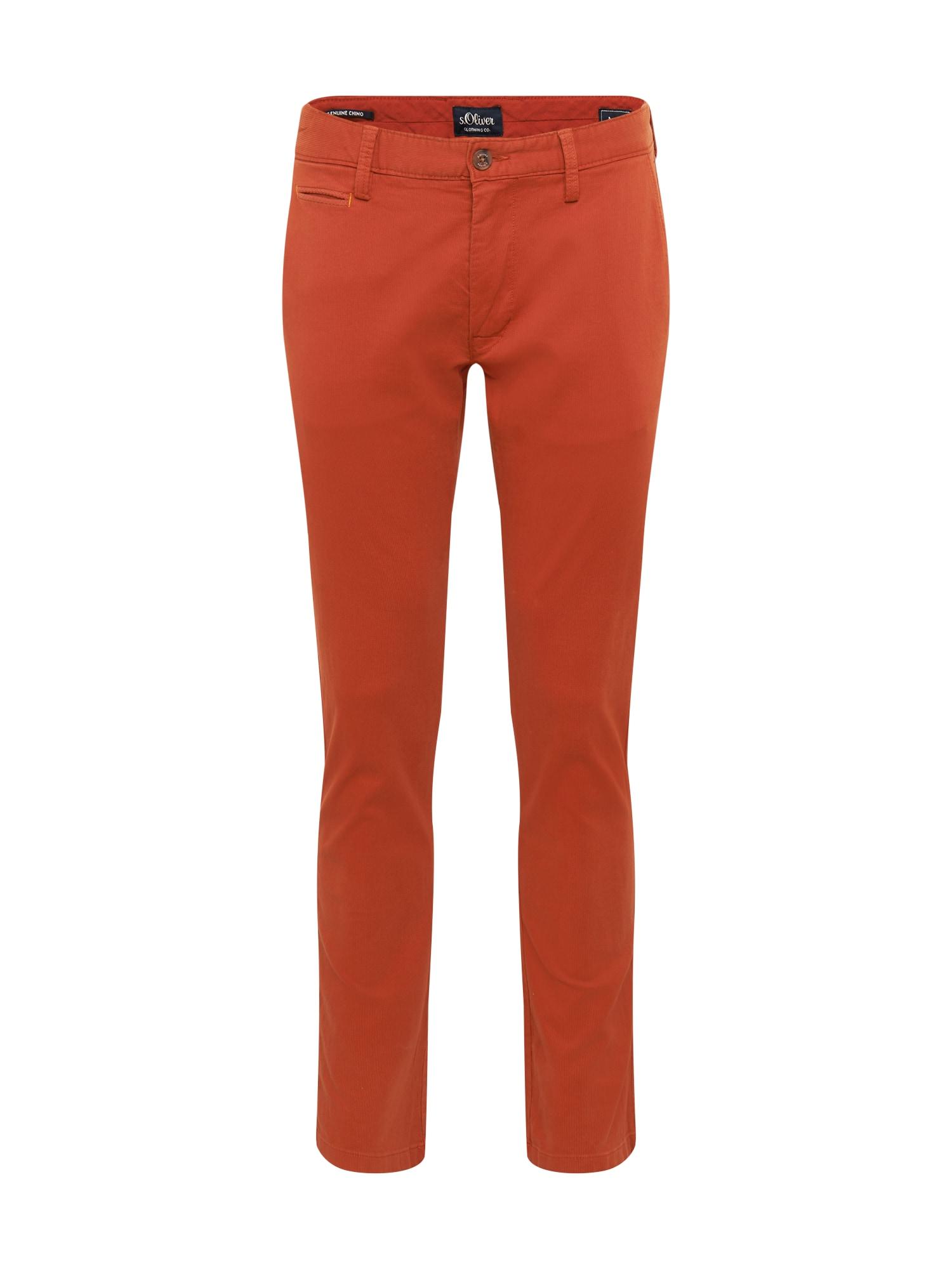 s.Oliver Chino kalhoty  tmavě oranžová