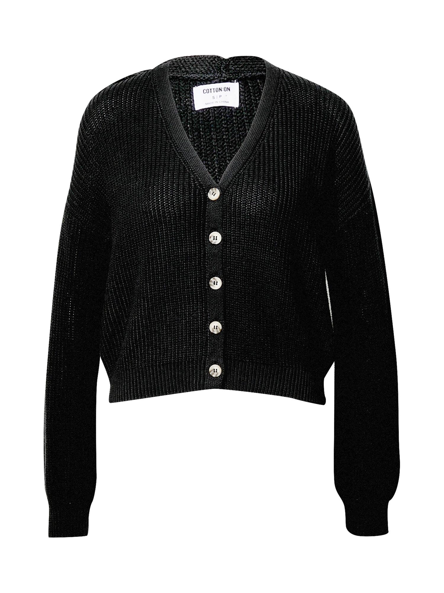 Cotton On Kardigan  černá