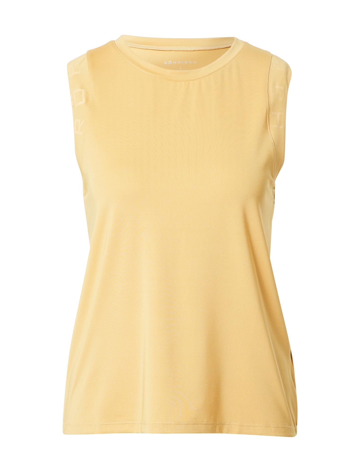 Röhnisch Sportiniai marškinėliai be rankovių šviesiai geltona