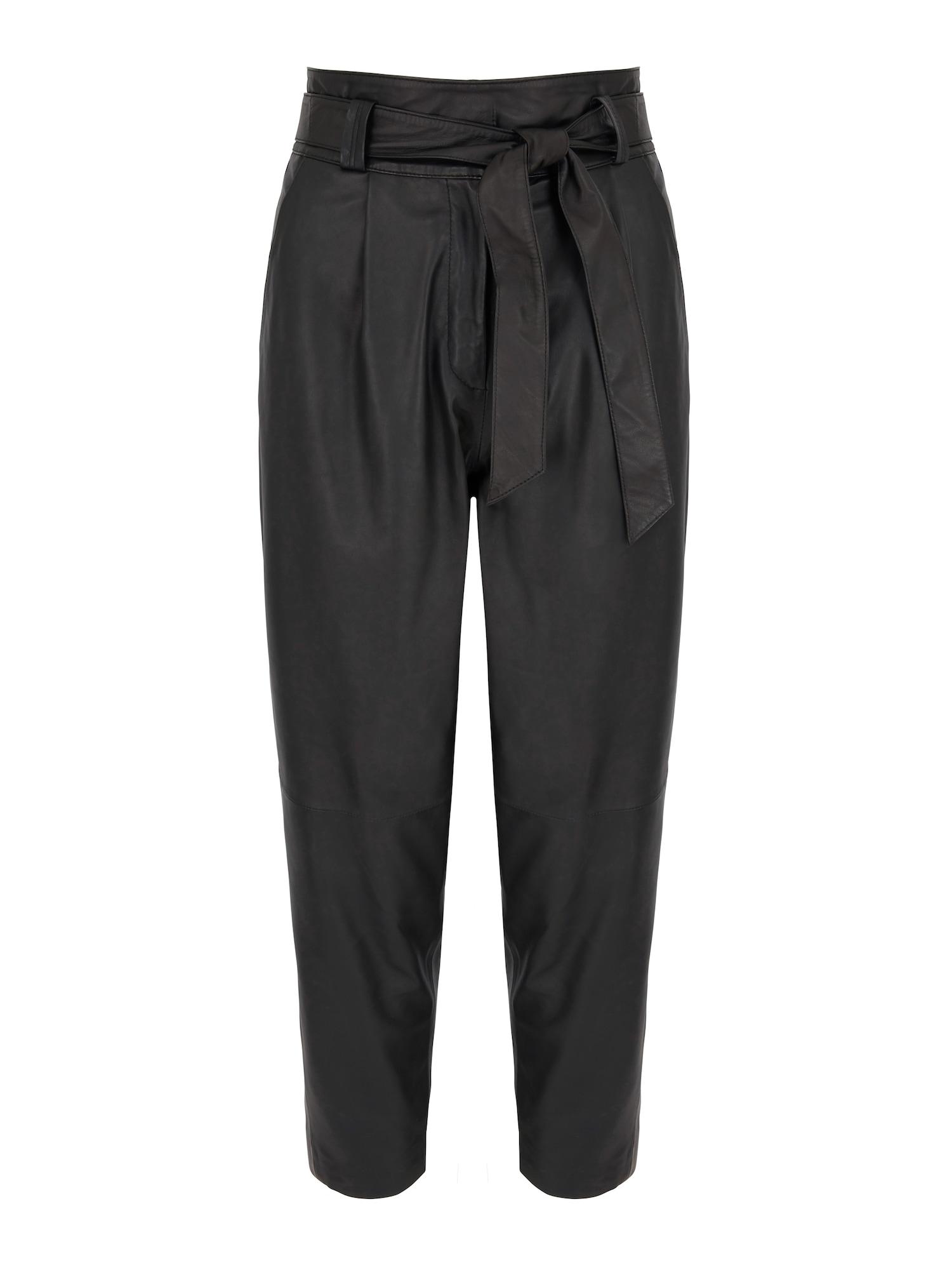 Aligne Klostuotos kelnės 'Belinda' juoda