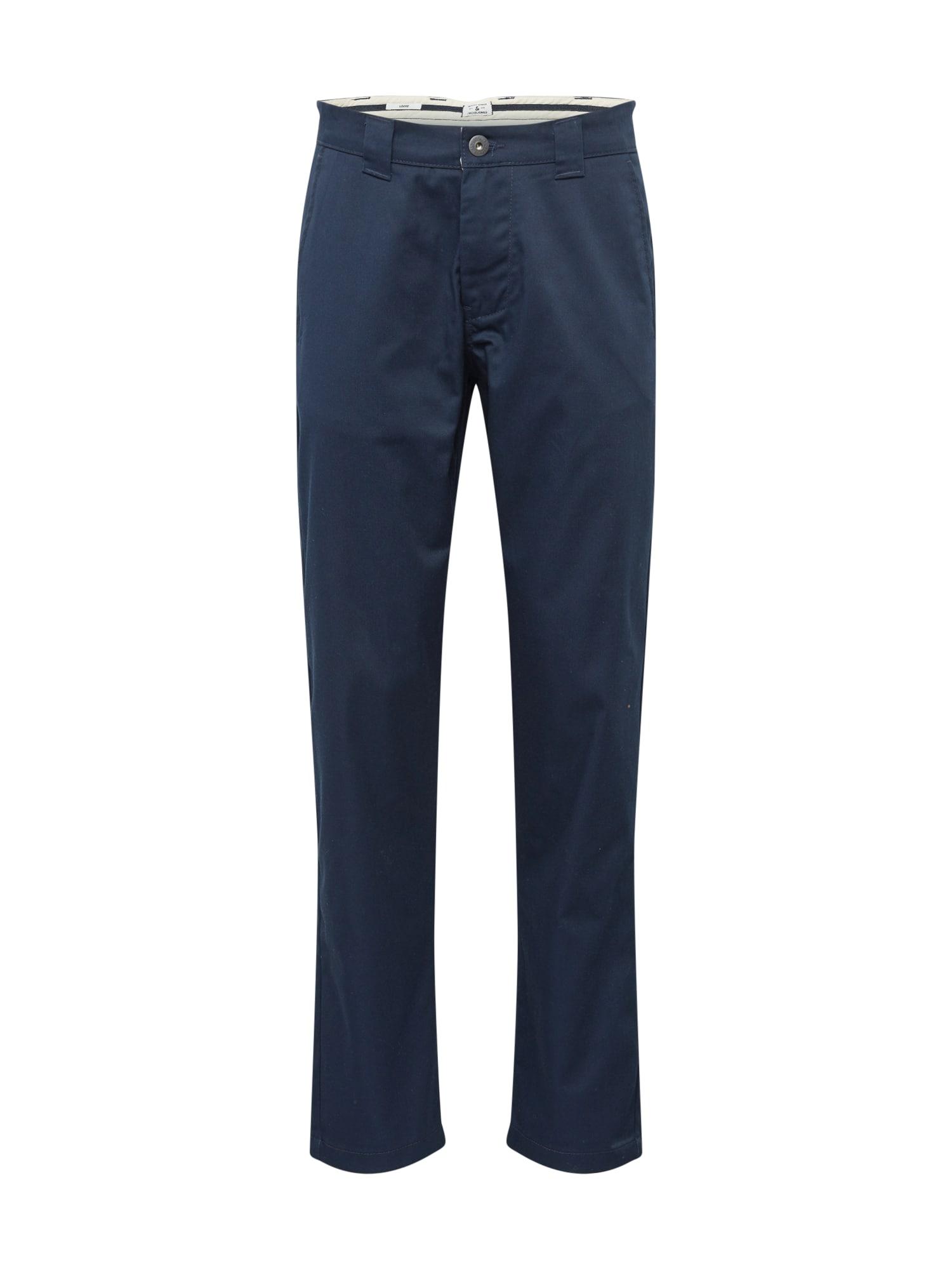 JACK & JONES Chino kalhoty 'TOBIS '  námořnická modř