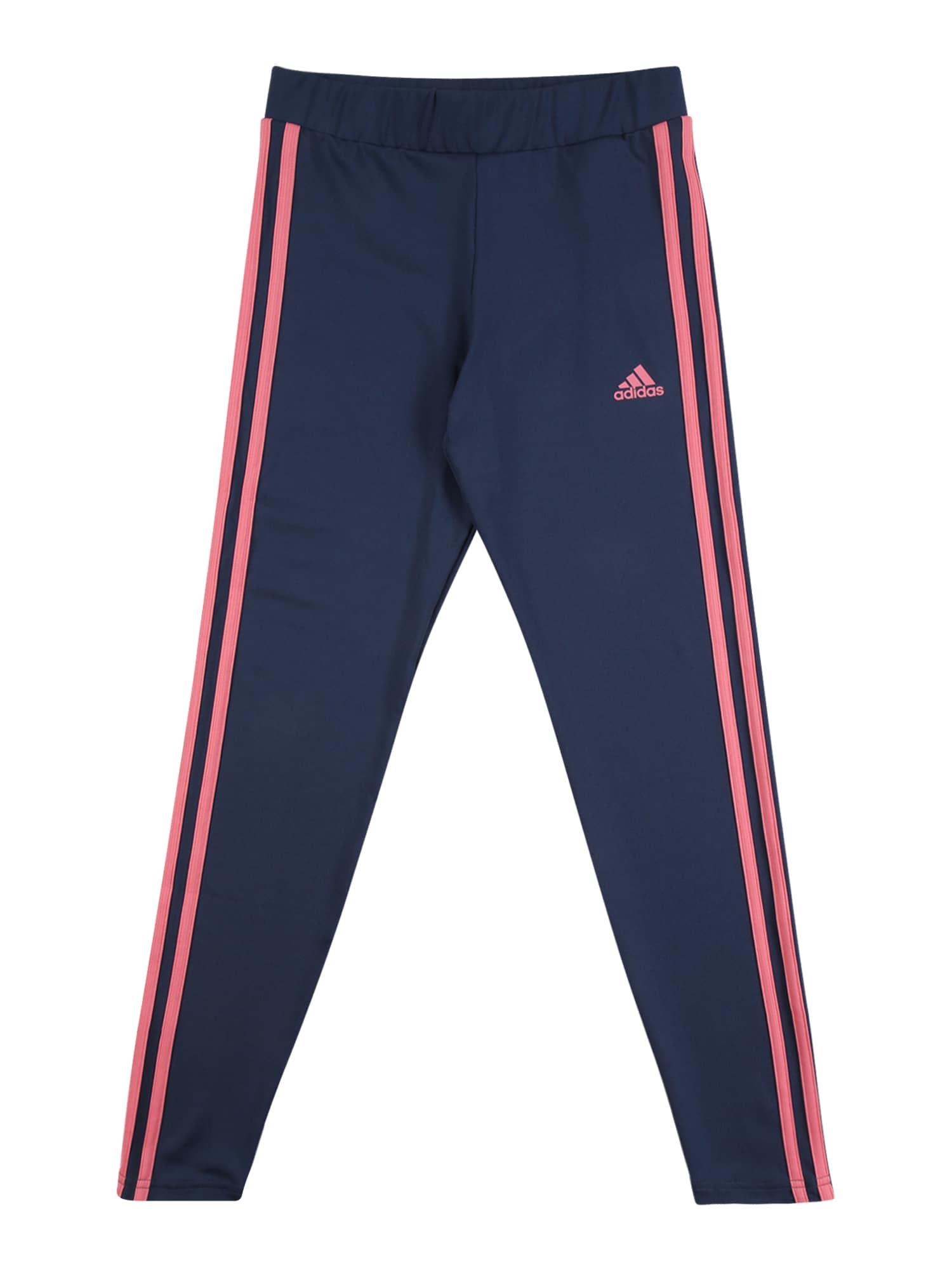 ADIDAS PERFORMANCE Sportinės kelnės tamsiai mėlyna / rožinė
