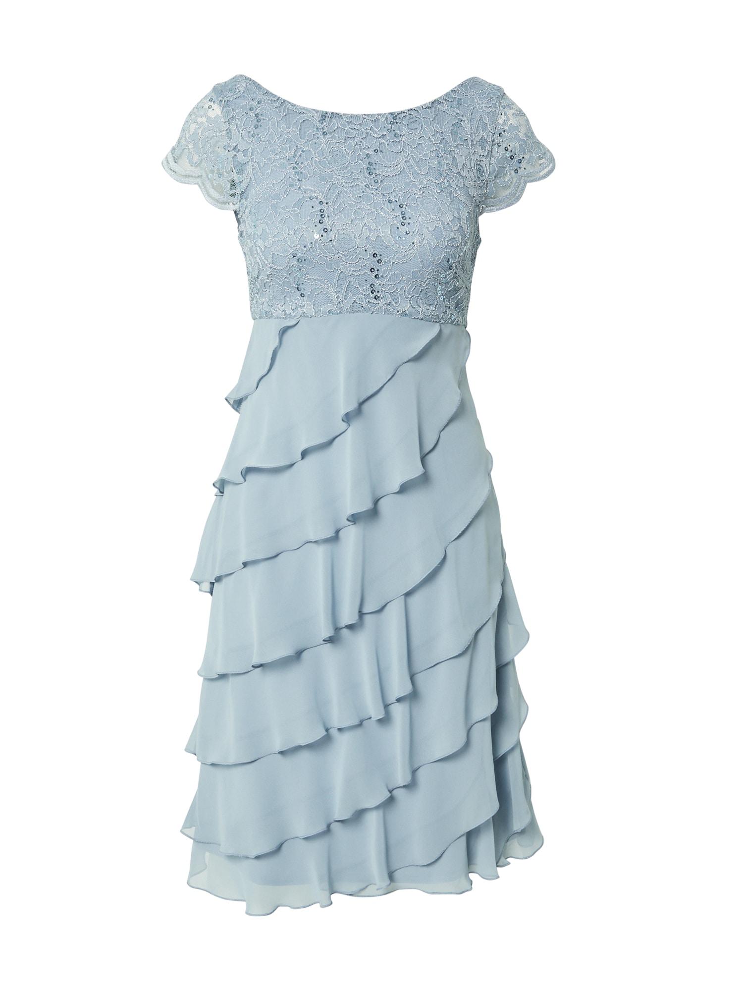 SWING Kokteilinė suknelė mėlyna dūmų spalva