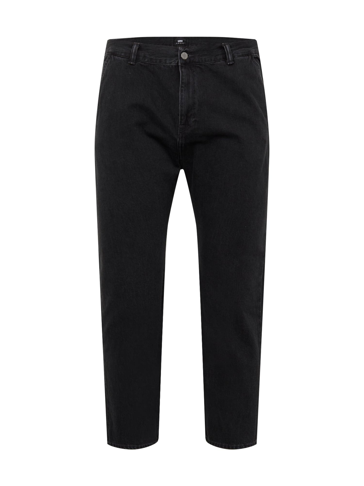 EDWIN Džinsai juodo džinso spalva