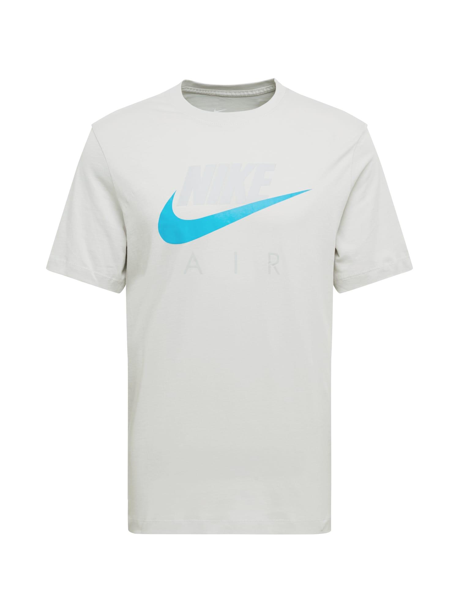 Nike Sportswear Tričko  světle šedá / tyrkysová